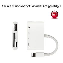 Lightning to SD/TF Card Reader, 4 in 1 Lightning to USB Came