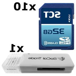 10 PACK - SCT 32GB SD HC Class 10 Secure Digital Ultimate Ex