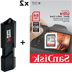 128GB - 2x SanDisk Ultra 64GB Class 10 SDXC UHS-1 Memory Car
