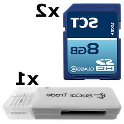 2 PACK - SCT 8GB SD HC Class 4 Secure Digital Ultimate Extre