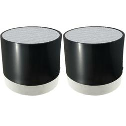 2 Bluetooth Rechargeable Mini Speaker Pods with SD Card Read