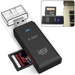 2 in 1 USB 3.0 Micro SD SDXC TF T-Flash Memory Card Reader A