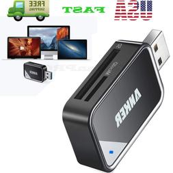 2-in-1 USB 3.0 SD Card Reader Peripherals for SDXC SDHC SD M