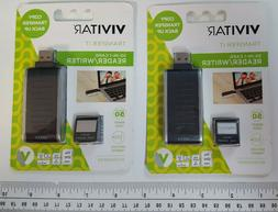 2 Vivitar Transfer It 50-in-1 Card Reader/Writer NIP ea Supp