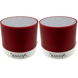 2 Acuvar Wireless Rechargeable Mini Speaker Pods with Micro