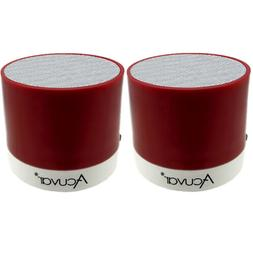 2 Acuvar Wireless Rechargeable Mini Speaker with SD Card Rea