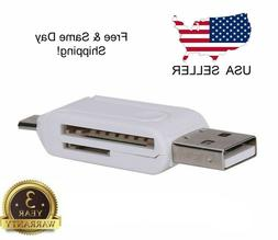 2in1 USB 2.0 Micro USB OTG SD/TF Flash Card Reader For Andro