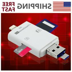 3 in 1 TF SD Card Reader Adapter for iPhone7 iPad MAC PC And