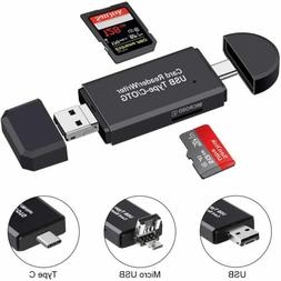 3 in 1 Type C Micro USB OTG Adapter SD TF Card Reader for Sa