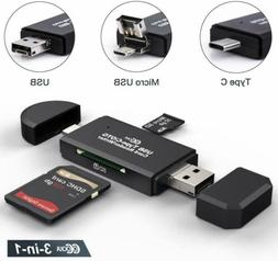 3in1 micro usb type c otg card