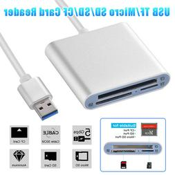 3 in 1 USB 3.0 Compact Flash Multi Memory Card Reader For TF
