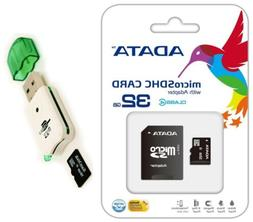Adata 32GB Micro SD SDHC MicroSD Flash Memory with Adapter 3