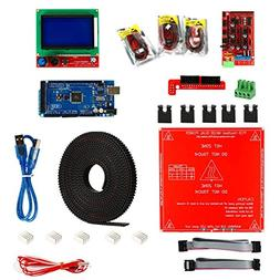 Toogoo 3D Printer Kit,Ramps 1.4 + Mega 2560 + MK2B Heatbed +