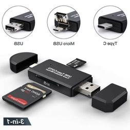 2in1 SD Card Reader Micro USB OTG to USB 2.0 Adapter SD/Micr