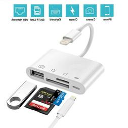4-in-1 SD/TF Card Reader USB 2.0 Female  OTG Adapter Cable F