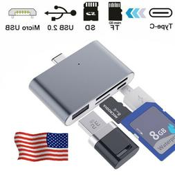 4 in 1 Type C 3.1 to Micro USB & USB OTG Adapter SD TF Card