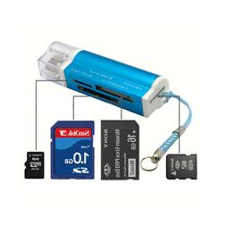 4-Pack High Speed USB 2.0 Data Memory Card Reader for Micro