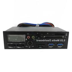 5.25 USB3.0 High Speed Media Dashboard Front Panel PC Multi