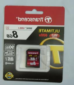 Transcend 8 GB High Speed Class 10 UHS Flash Memory Card TS8