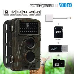 BOBLOV 8GB 1080P 12MP Waterproof Hunting Scouting Trail Game