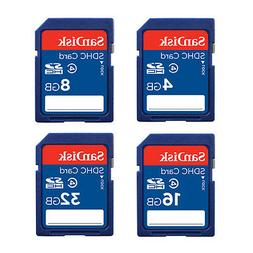 SanDisk 8GB 16GB 32GB SD SDHC Class4 Standard for Camera Fla
