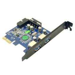 Anker® Uspeed PCI-E to USB 3.0 2 Port Express Card, with 1