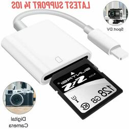 Apple Lightning to SD Card Cable Photos Reader Trail Game iP