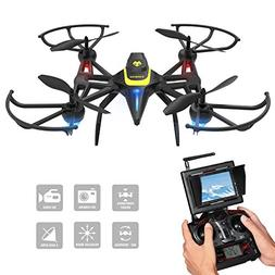 Drone with Camera & Screen, Tomzon New Generation F185DH FPV