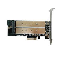 M.2 PCIe NVMe or PCIe AHCI SSD to PCIe 3.0 x4 and M.2 SATA S