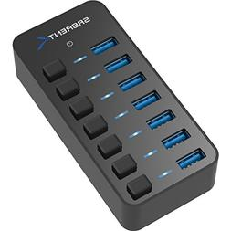 Sabrent 36W 7-Port USB 3.0 Hub with Individual Power Switche
