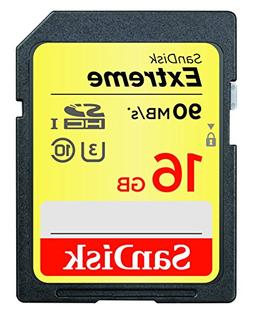 SanDisk 16GB Extreme SDHC UHS-I Memory Card - 90MB/s, C10, U