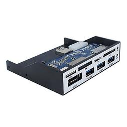 Sedna - All in 1 USB 3.0 Front Panel Internal Card Reader wi