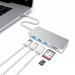 Vacio Aluminum USB Type-C 5in1 Hub Adapter 5 USB 3.0 SD/Micr