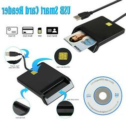 Black Smart Card Reader DOD Military USB Common Access CAC c