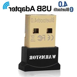 Warmstor Bluetooth Adapter, CSR 4.0 USB Dongle Bluetooth Rec