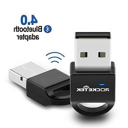 Rocketek Bluetooth USB Adapter Bluetooth 4.0 Dongle Adapter