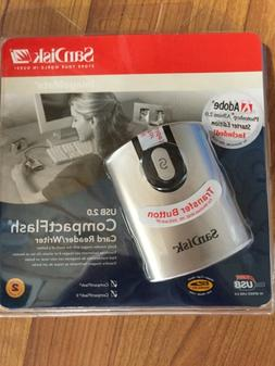 BRAND NEW SANDISK SDDR-92-A15 USB 2.0 COMPACT FLASH CARD REA