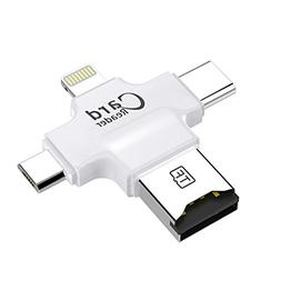 Card Reader 4 in 1 Multifunction Micro SD Card Reader with T