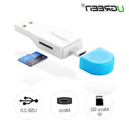 UGREEN Card Reader High Speed 2.0 Micro SD T-Flash TF USB Me