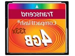 TRANSCEND 4GB CF CARD  - Sold as 2 Packs