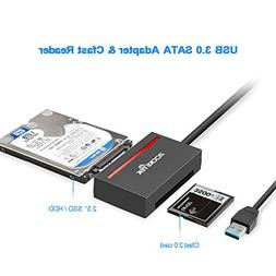 Rocketek CFast 2.0 Card Reader & USB 3.0 to SATA Adapter Con