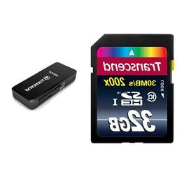 Transcend 32GB SDHC Class 10 Flash Memory Card Up to 30MB/s