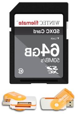 64GB Class 10 SDXC High Speed Memory Card 50MB/Sec. For Cano