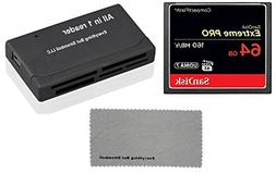 SanDisk Extreme Pro 64GB CompactFlash CF Memory Card works w