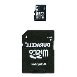 Duracell 4 GB microSDHC Flash Memory Card + SD Adapter