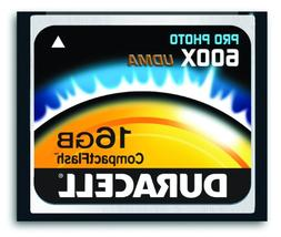 Duracell High Speed 16 GB 600X USB 2.0 Compact Flash Card Ca