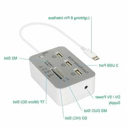 Ercrysto Card Reader And 3-Port Usb Hub, High-Speed External