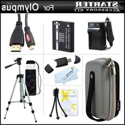 Essential Accessories Kit For Olympus Stylus SH-50 iHS, SH-5