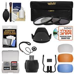 Essentials Bundle for Canon Camera & 18-55mm Lens + 3 UV/CPL