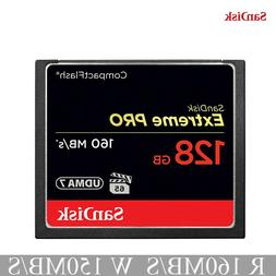SanDisk Extreme PRO 128GB CF Card UDMA7 160MB/s 128G Compact